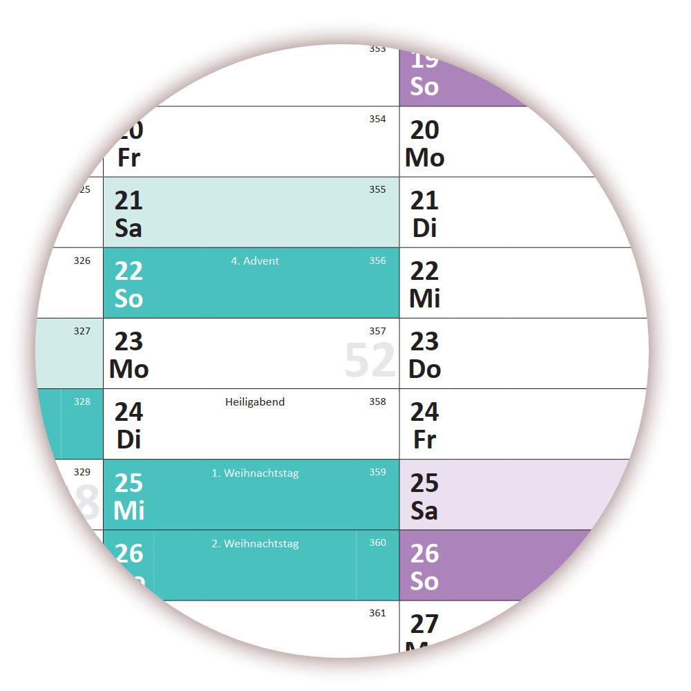 3x Schuljahreskalender 2019//20 DIN B1 August 2019-August 2020 nass abwischbar