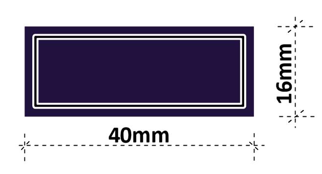 Kaffee Etiketten 40 x 16 mm aus stabiler Vinylfolie, witterungsbeständig und wasserfest