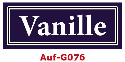 Vanille Etiketten 40 x 16 mm aus stabiler Vinylfolie, witterungsbeständig und wasserfest