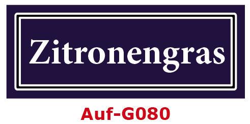 Zitronengras Etiketten 40 x 16 mm aus stabiler Vinylfolie, witterungsbeständig und wasserfest