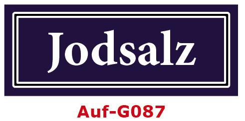Jodsalz Etiketten 40 x 16 mm aus stabiler Vinylfolie, witterungsbeständig und wasserfest