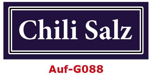 Chili Salz Etiketten 40 x 16 mm aus stabiler Vinylfolie, witterungsbeständig und wasserfest
