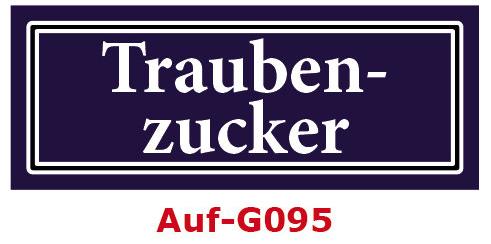 Traubenzucker Etiketten 40 x 16 mm aus stabiler Vinylfolie, witterungsbeständig und wasserfest