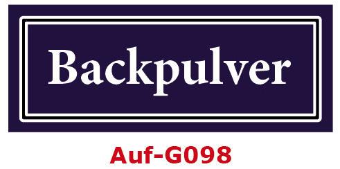 Backpulver Etiketten 40 x 16 mm aus stabiler Vinylfolie, witterungsbeständig und wasserfest
