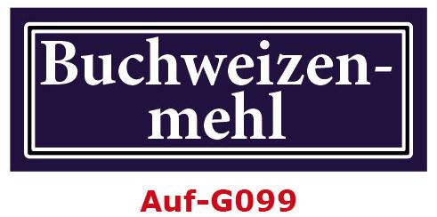 Buchweizenmehl Etiketten 40 x 16 mm aus stabiler Vinylfolie, witterungsbeständig und wasserfest