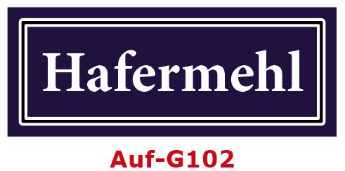 Hafermehl Etiketten 40 x 16 mm aus stabiler Vinylfolie, witterungsbeständig und wasserfest