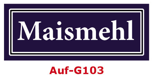 Maismehl Etiketten 40 x 16 mm aus stabiler Vinylfolie, witterungsbeständig und wasserfest