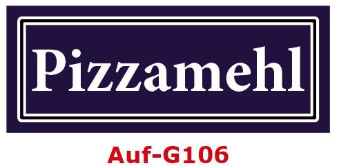 Pizzamehl Etiketten 40 x 16 mm aus stabiler Vinylfolie, witterungsbeständig und wasserfest