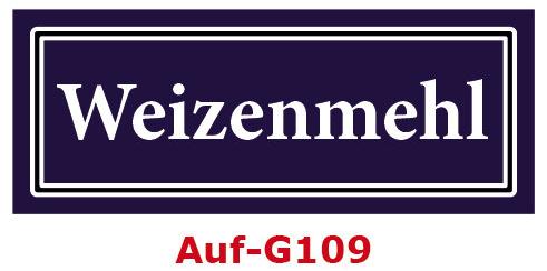 Weizenmehl Etiketten 40 x 16 mm aus stabiler Vinylfolie, witterungsbeständig und wasserfest