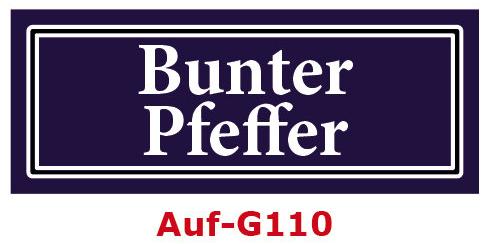 Bunter Pfeffer Etiketten 40 x 16 mm aus stabiler Vinylfolie, witterungsbeständig und wasserfest