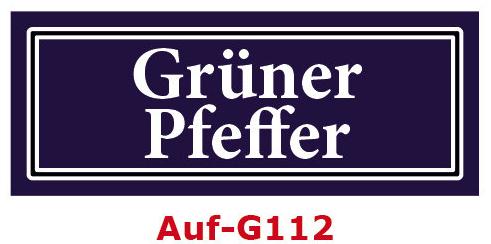 Grüner Pfeffer Etiketten 40 x 16 mm aus stabiler Vinylfolie, witterungsbeständig und wasserfest