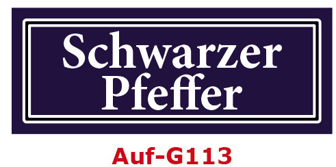 Schwarzer Pfeffer Etiketten 40 x 16 mm aus stabiler Vinylfolie, witterungsbeständig und wasserfest