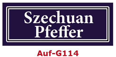 Szechuan Pfeffer Etiketten 40 x 16 mm aus stabiler Vinylfolie, witterungsbeständig und wasserfest