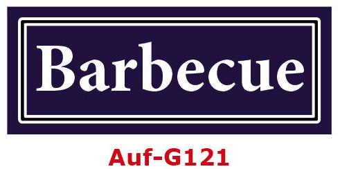 Barbecue Etiketten 40 x 16 mm aus stabiler Vinylfolie, witterungsbeständig und wasserfest