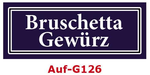Bruschetta Gewürz Etiketten 40 x 16 mm aus stabiler Vinylfolie, witterungsbeständig und wasserfest