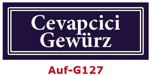 Cevapcici Gewürz Etiketten 40 x 16 mm aus stabiler Vinylfolie, witterungsbeständig und wasserfest