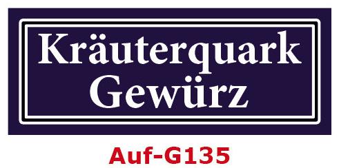 Kräuterquark Gewürz Etiketten 40 x 16 mm aus stabiler Vinylfolie, witterungsbeständig und wasserfest