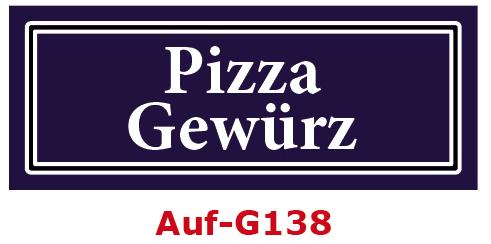 Pizza Gewürz Etiketten 40 x 16 mm aus stabiler Vinylfolie, witterungsbeständig und wasserfest