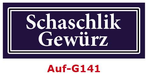Schaschlik Gewürz Etiketten 40 x 16 mm aus stabiler Vinylfolie, witterungsbeständig und wasserfest