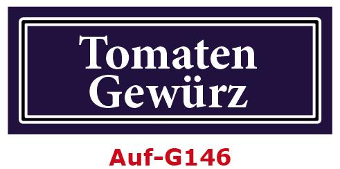 Tomaten Gewürz Etiketten 40 x 16 mm aus stabiler Vinylfolie, witterungsbeständig und wasserfest