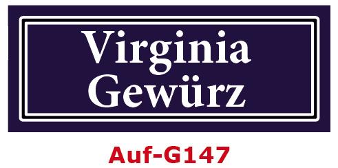 Virginia Gewürz Etiketten 40 x 16 mm aus stabiler Vinylfolie, witterungsbeständig und wasserfest