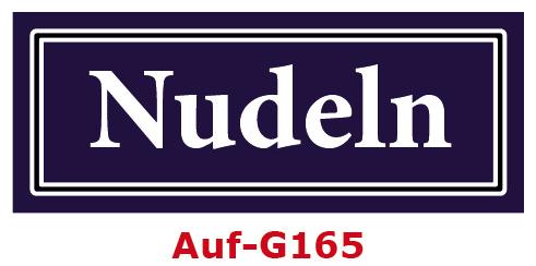 Nudeln Etiketten 40 x 16 mm aus stabiler Vinylfolie, witterungsbeständig und wasserfest