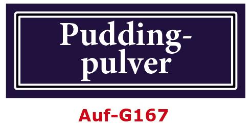 Puddingpulver Etiketten 40 x 16 mm aus stabiler Vinylfolie, witterungsbeständig und wasserfest