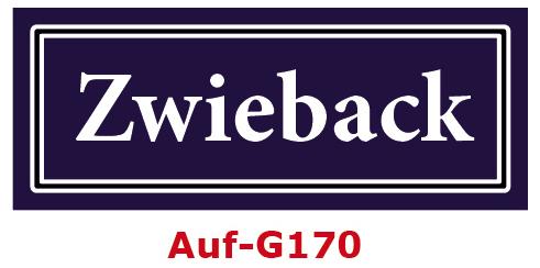 Zwieback Etiketten 40 x 16 mm aus stabiler Vinylfolie, witterungsbeständig und wasserfest