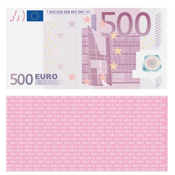 500 euro schein ausdrucken