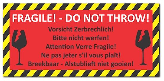 Details Zu 48 X Aufkleber Vorsicht Zerbrechlich Din Lang 210x98mm Folienaufkleber Auf 525
