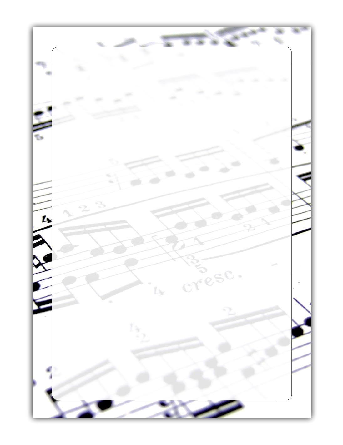 Musik Motiv Briefpapier (MPA-5195, DIN A4, 100 Blatt) Motivpapier Noten Notenpapier Notenschlüssel