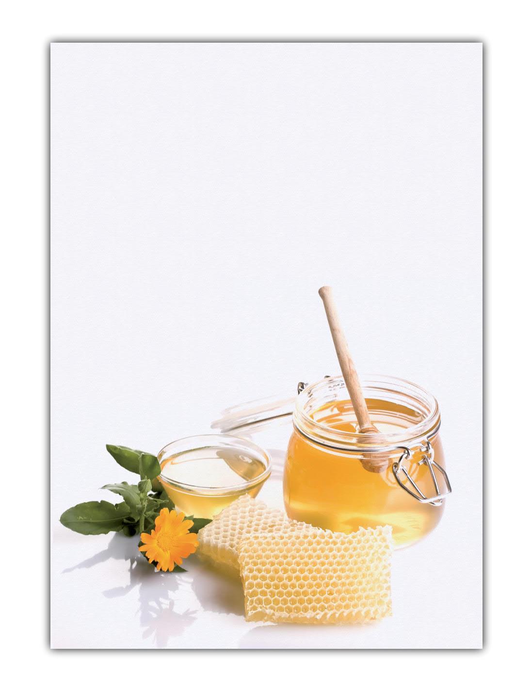 Honig Motivpapier Briefpapier (MPA-5206, DIN A4, 100 Blatt) Bienen Imker Ringelblumen