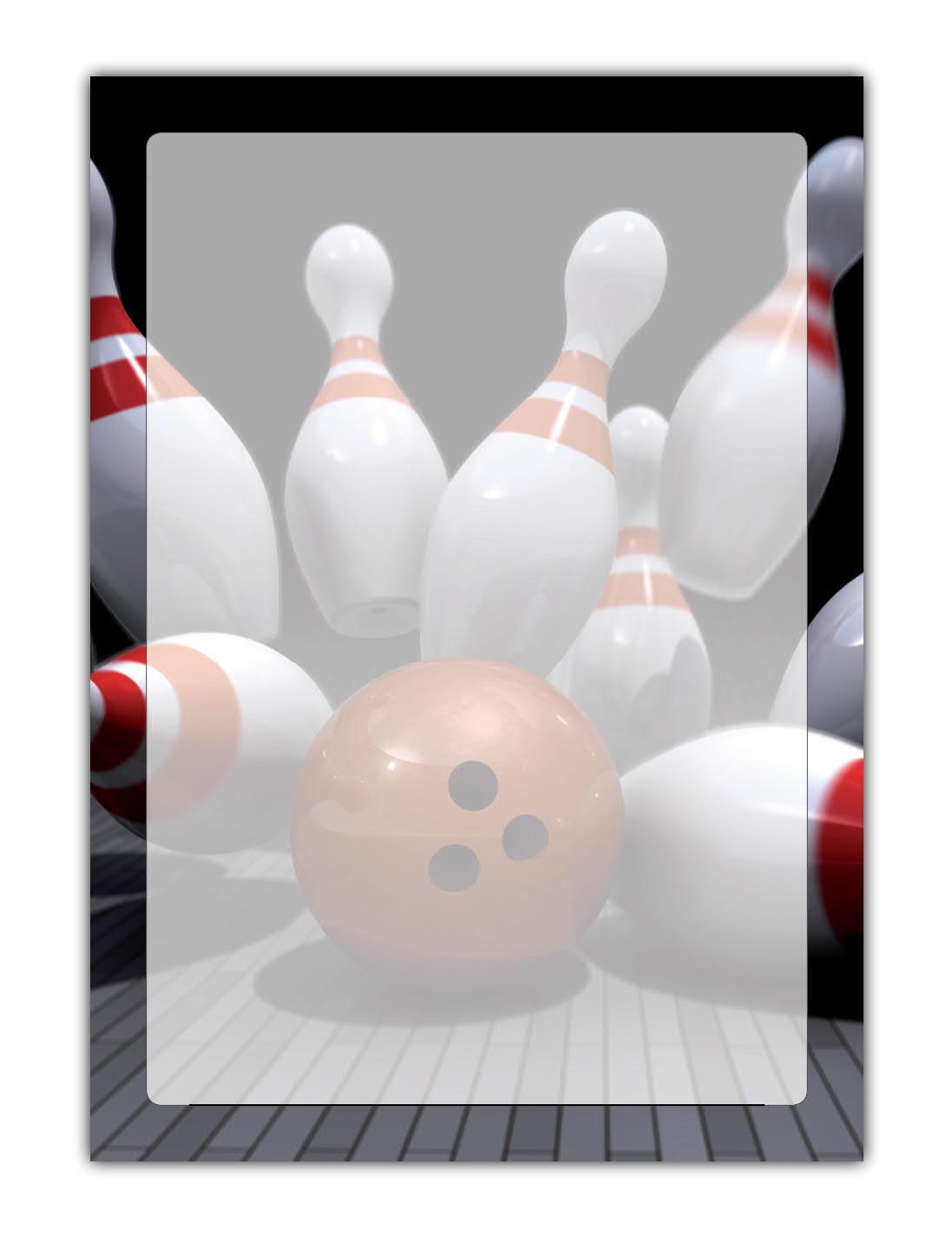 Bowling Motivpapier Briefpapier (MPA-5209, DIN A4, 100 Blatt) Kegeln Sport Bowlingkugel