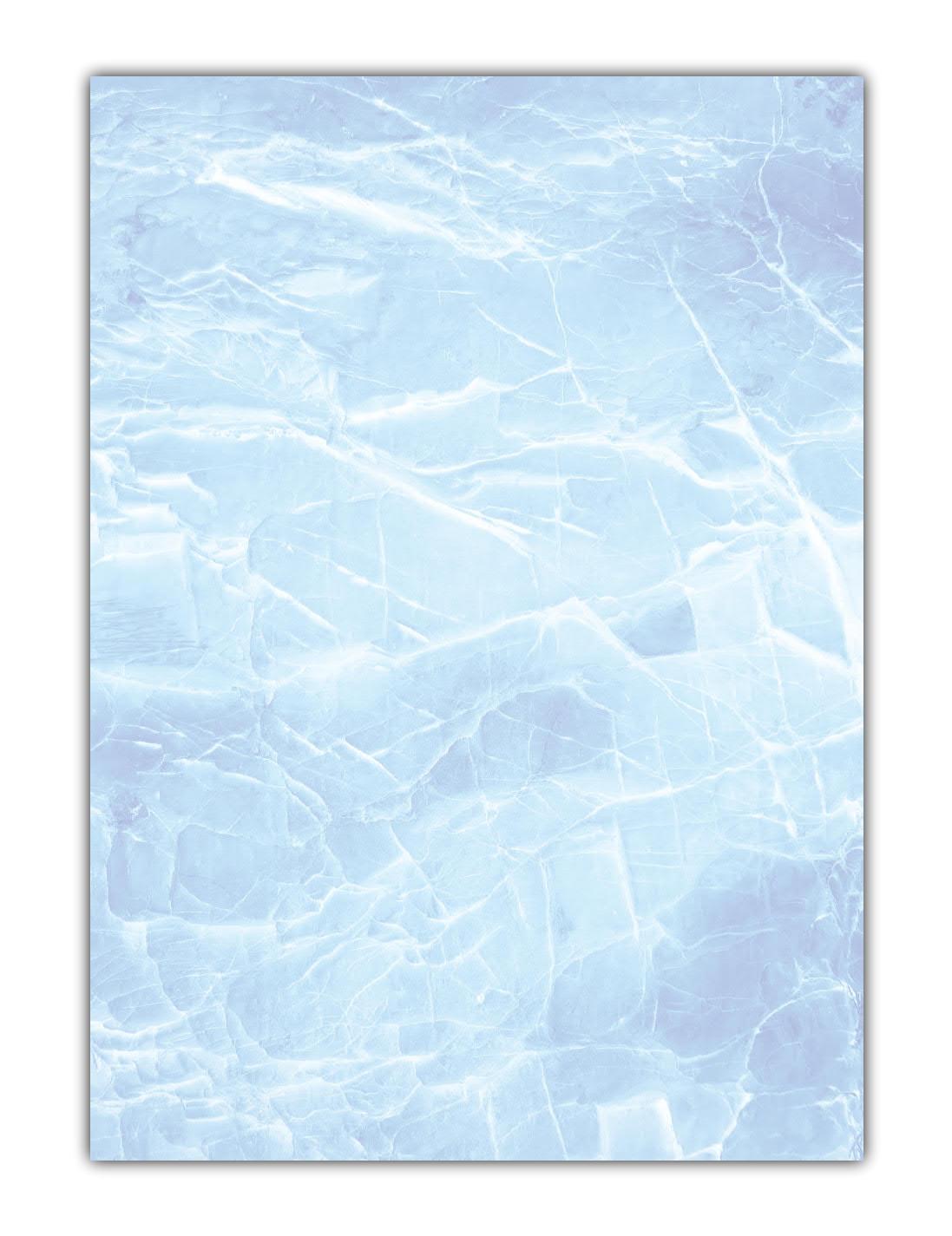Marmorpapier Motivpapier Briefpapier (MPA-5217, DIN A4, 100 Blatt) Marmor Eis blau Gastronomie