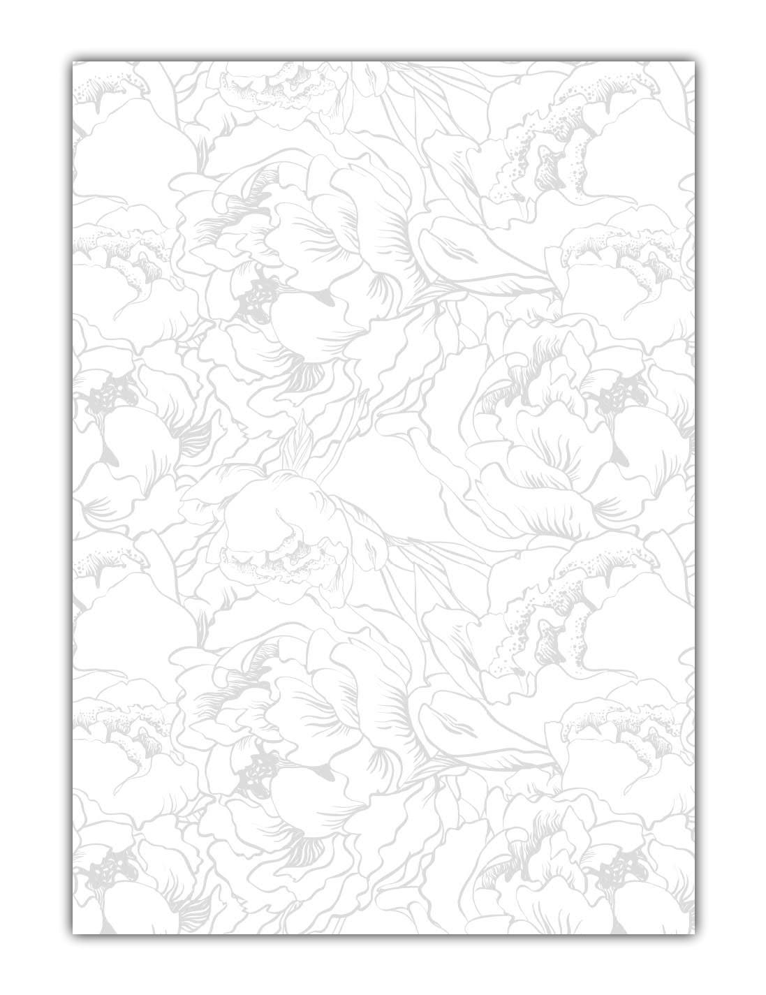 Vintage Muster Motiv Briefpapier (MPA-5220, DIN A4, 100 Blatt) Motivpapier silbergrau abstrakt Blumen Blüten