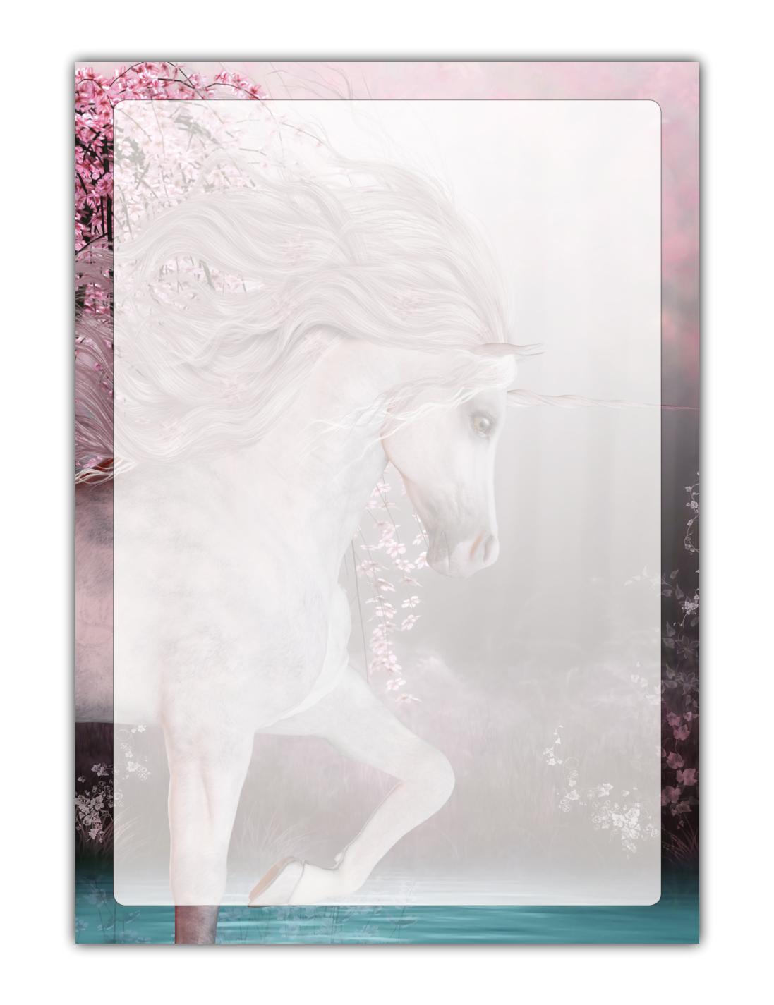 Kinder Motivpapier Briefpapier magisches Einhorn Unicorn (MPA-5222, DIN A4, 100 Blatt)